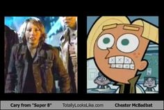 My favorite character's from both  Super 8 AND Fairly Odd Parents.