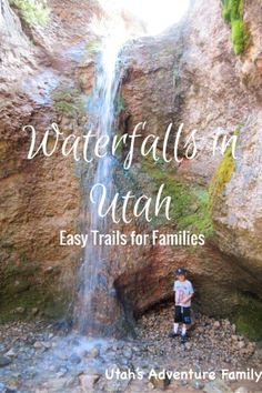 Easy Waterfalls in Utah--We've compiled a list of the easiest trails to waterfalls in Utah. Some are even stroller friendly! And all are under a mile!