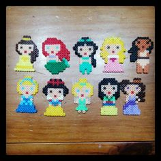 Disney Princess hama perler beads by hibiscogirl