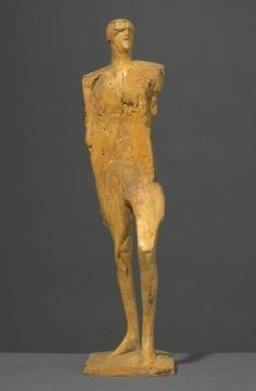 Dame Elisabeth Frink 'Small Male Figure with Goggles', © Frink Estate The Farm, Modern Sculpture, Sculpture Art, Elisabeth Frink, Bay Area Figurative Movement, Sculpture Projects, Ceramic Figures, Modern Artists, Male Figure