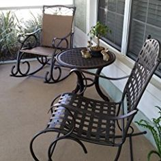 International Caravan Santa Fe Wrought Iron Outdoor Patio Rocker | SILLONES  | Pinterest | Wrought Iron And Santa Fe