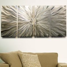 """""""Static"""" Metal Modern Abstract Contemporary Wall Sculpture"""