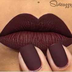maroon matte google search more nail lips fabulous nails lips n nails ...