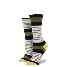 Step right up and marvel at the amazing comfort of the Carnival sock. Big-top-style stripes and spotlight yellow accents are the main attraction, but you won't need a ticket to catch this starring act. Just slip your feet into their signature combed cotton comfort and applaud the extra deep heel pocket and reinforced toe box. For nights when the show must go on, we added a band of bouncy elastic arch support and a seamless construction that cradle feet in a flawless performance of style $10