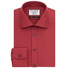 Bedford Texture Classic Fit Button Cuff Shirt