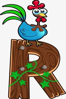 Escuela infantil castillo de Blanca: ALFABETO: LA GRANJA Animal Alphabet, Alphabet Letters Images, Animal Letters, Alphabet Templates, Printable Letters, Alphabet And Numbers, Wood Letters, Drawing Cartoon Characters, Cartoon Drawings