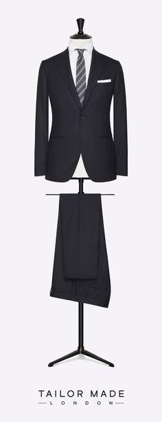 Tailor Made London dark blue, 2-piece suit.