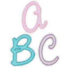 See It All :: Chloe Applique Alphabet - Embroidery Boutique