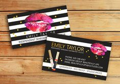 LipSense Business Cards SeneGence International LipSense