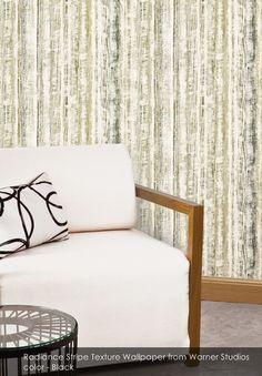 Radiance Stripe Texture wallpaper from Warner Studios in Black
