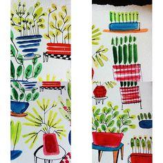 Détails  #illustrator #illustration #plants #indoorplant #homesweethome #aquarelle #deco