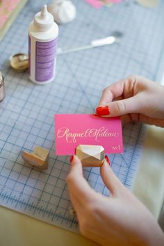 DIY Gem Escort Card Holders http://ruffledblog.com/diy-gem-escort-card-holders #diyproject #escortcards