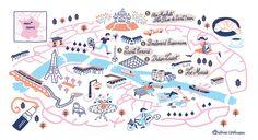 Map of Paris for Destination Vacation - Antoine Corbineau • Illustration & Design