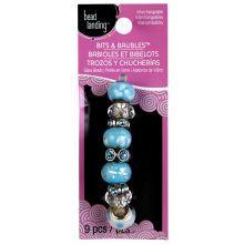 Bead Landing Bits & Baubles Glass Bead Mix, Aqua/White