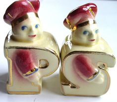 1940s Chef Salt and Pepper Shakers, Vintage Collectibles