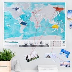 New glow in the dark big scratch off world map posterus states scratch off push pin world oceans map bundle gumiabroncs Gallery