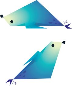 daily #art - a seal that happened to turn into some shitty bird when rotated - #seals #animals #birds #drawing #digitalart