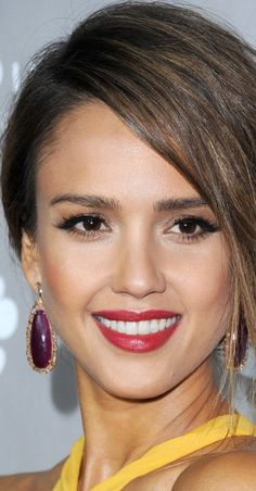 Jessica Alba...and for the latest in trending accessories, visit Designs By Maral, on etsy ...http://etsy.com/shop/designsbymaral/