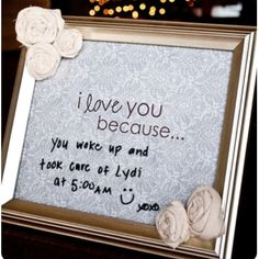 I love this idea! What a great way to keep the romance alive!
