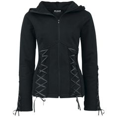 Hoodie with a corset look - with wings on the back print. Not the colour, the style
