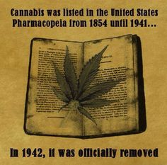 Cannabis was listed in the United States Pharmacopeia from 1854 until 1941 | Anonymous ART of Revolution | #1Cure4Cancer | www.mycutcorep.com/JamesTaylor