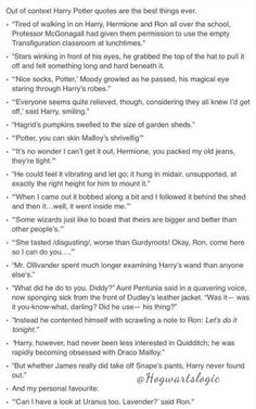 Out of context Harry Potter quotes. Probably the best thing I've ever read... OMG these are fantastic... LOL
