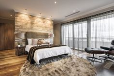 25 Beautiful Farmhouse Bedroom Wall Decor Ideas and Design For Small Rooms Master Bedroom Curtains, Contemporary House Design, Boy Room Wall Decor, Bedroom Interior, Home Decor, Modern Bedroom, Bedroom Wall, Remodel Bedroom, Interior Design Bedroom
