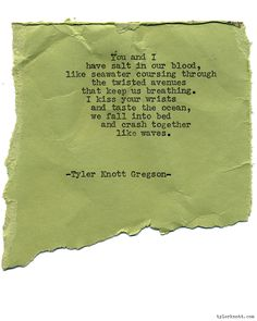 Typewriter Series #1306 by Tyler Knott Gregson*Order All The Words Are Yours, through Amazon, Barnes and Noble, IndieBound , Books-A-Million , or iBookstore! *