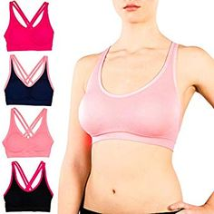 db355b4c62c30 FITTIN Racerback Sports Bras - Padded Seamless High Impact Support for Yoga Gym  Workout Fitness at Amazon Women s Clothing store