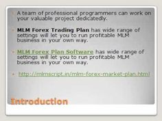 Forex MLM Trading Software has wide range of settings will let you to run profitable MLM business in your own way.