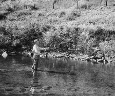 President Eisenhower Fishing the South Platte River