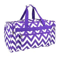 Best Chevron Print Duffle Bags - Great for Travel, Cheer, Gym and Pagents