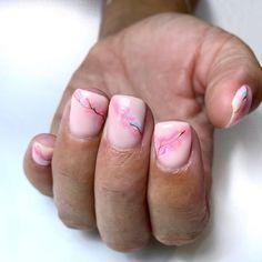 Gels: @the_gelbottle_inc✨Prep: @navyprotools✨Cuticle oil: @nafstuff Floral Nail Art, Pink Nail Art, Pink Nail Polish, Nail Art Diy, Easy Nail Art, Diy Nails, Tree Nail Art, Cute Simple Nails, Nail Art For Beginners