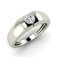Diamond Men's Ring in 14k White Gold (0.25 ct.tw.)