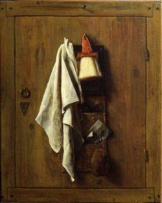 Tromp-l´oeil-Stillleben - SAMUEL VAN HOOGSTRATEN 1626 - 1678 Tromp-l´oeil-Stillleben 1655 datiert Öl auf Leinwand
