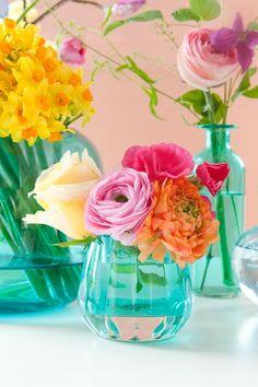 Tafeldecoratie - Bloemen van Loes