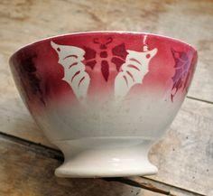 Rare antique french bowl for Coffee door PetitMignonGrandBeau