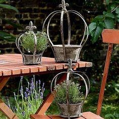 Enjoy great savings in our Home, Garden, Gift, Jewellery & Clothing departments. Crown Decor, Metal Crown, Garden Whimsy, Wire Crafts, Dream Garden, Garden Pots, Beautiful Gardens, Container Gardening, Outdoor Gardens