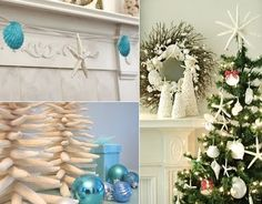 Christmas Decorations and Tree Ornaments with a Coastal Theme