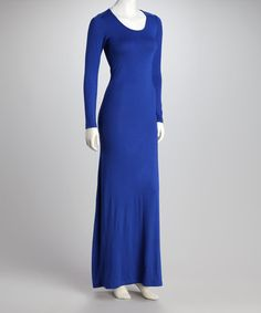 Royally awesome.  Blue Long-Sleeve Maxi Dress by A Dress a Day Collection on @zulily today!