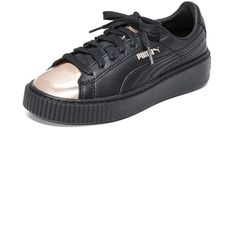1ef67b9d PUMA Basket Platform Metallic Sneakers (127 AUD) ❤ liked on Polyvore  featuring shoes,