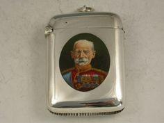 VICTORIAN SILVER & ENAMEL FIELD MARSHALL 'THE EARL ROBERTS' VESTA CASE  SAUNDERS & SHEPHERD LTD, BIRMINGHAM 1900