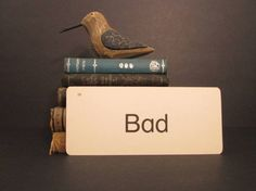 Vintage Flash Card Bad by GirlPickers on Etsy