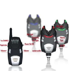 SZMWL Fishing Bite Alarm 4 1 Bite Indicator 4*K001 Wireless Bite Alarms  1*FM02 Wireless Receiver Waterproof Volume Control Tone Control Multi-colour LED Receiver/Transmitter Rating 100M Nite Light ** Visit the image link more details.