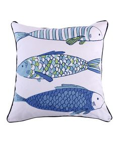 Another great find on #zulily! Catalina Fish Pillow #zulilyfinds