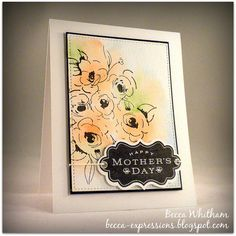 Hand made card using Altenew Painted Flowers and CTMH Perfect Fit - Mom