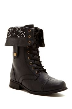 Carrini Lace Lining Combat Boot.  Need these
