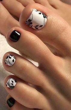 27 Adorable Easy Toe Nail Designs 2020 – Simple Toenail Art Designs : Page 14 of 25 : Creative Vision Design – nageldesign. Simple Toe Nails, Pretty Toe Nails, Cute Toe Nails, Summer Toe Nails, Fancy Nails, My Nails, Fall Toe Nails, Pretty Toes, Jamberry Nails