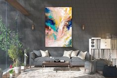 Items similar to Large Modern Wall Art Painting,Large Abstract Painting on Canvas,texture painting,gold canvas painting,gallery wall art on Etsy Large Abstract Wall Art, Large Canvas Art, Large Painting, Texture Painting, Texture Art, Painting Art, Knife Painting, Painting Gallery, Art Original