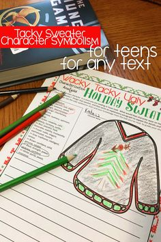 Wacky, Tacky, Ugly Christmas Sweater Event Pack with Literacy Activities, Literary Symbolism, Christmas Activity for Teens, Classroom Idea for Teens